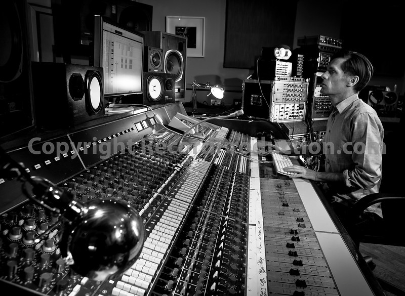 Recording engineer and record producer Max Heyes at the controls of the mixing desk at Lynchmob Studios, London   ---  Watch our VIDEO interview with Max Heyes:  http://www.recordproduction.com/record-producer-features/max-heyes-producer.html