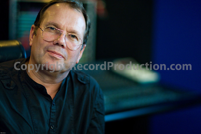 top music producer chris porter in his recording studio in london