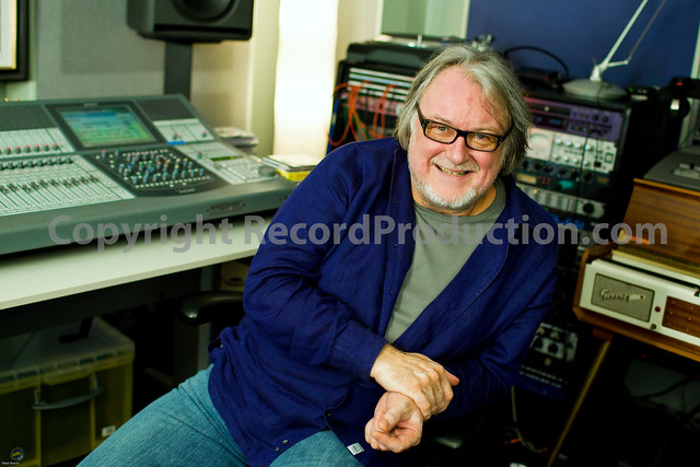 chris kimsey, record producer of the rolling stones at sphere recording studios uk