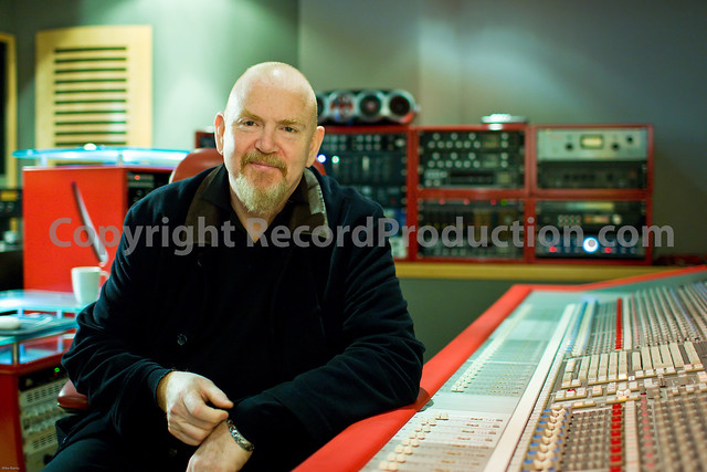mike hedges behind the ssl console at alpha centuri recording studios london